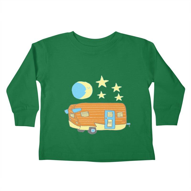 Camp Kids Toddler Longsleeve T-Shirt by Renee Leigh Stephenson Artist Shop