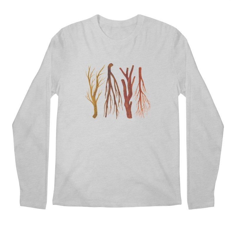 Wood Pile Men's Longsleeve T-Shirt by Renee Leigh Stephenson Artist Shop