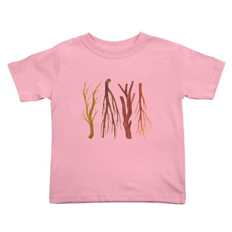 Wood Pile Kids Toddler T-Shirt by Renee Leigh Stephenson Artist Shop