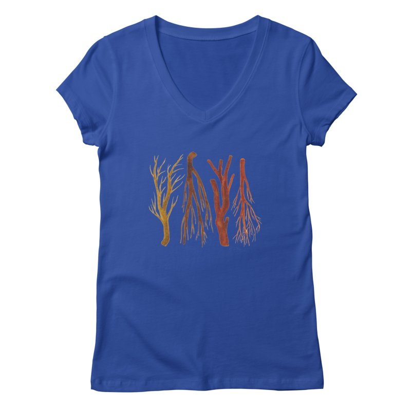 Wood Pile Women's V-Neck by Renee Leigh Stephenson Artist Shop