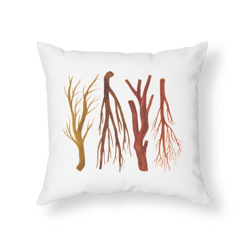 Wood Pile Home Throw Pillow by Renee Leigh Stephenson Artist Shop