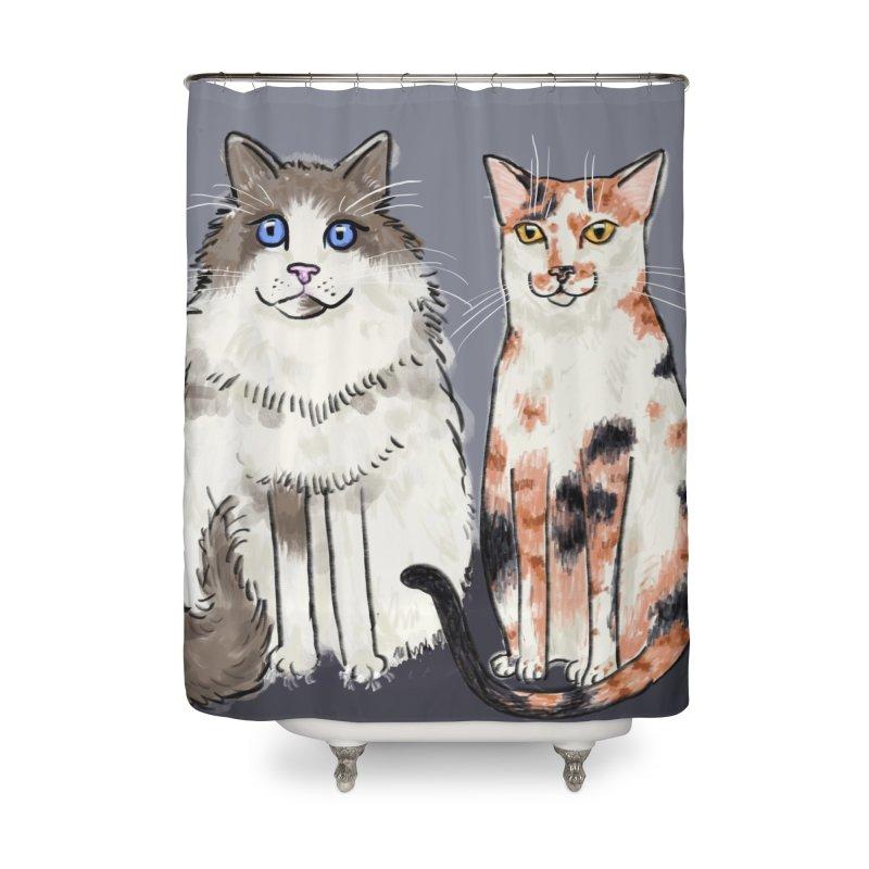 Gibbs and Callie Home Shower Curtain by Renee Leigh Stephenson Artist Shop