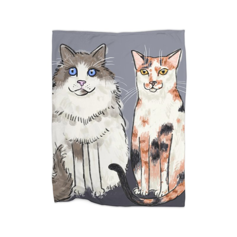 Gibbs and Callie Home Blanket by Renee Leigh Stephenson Artist Shop
