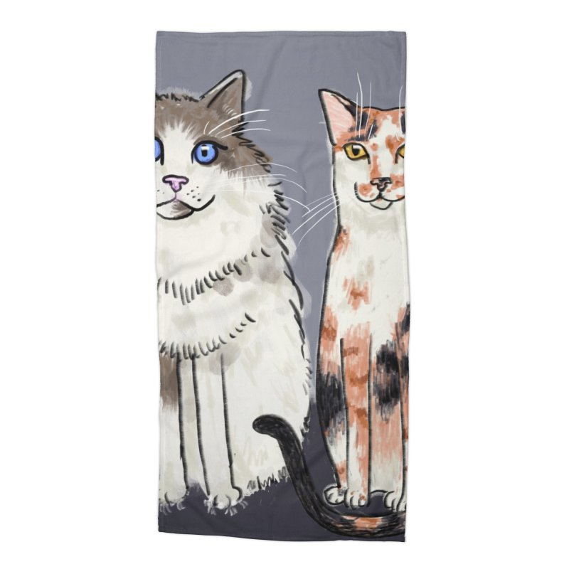 Gibbs and Callie Accessories Beach Towel by Renee Leigh Stephenson Artist Shop