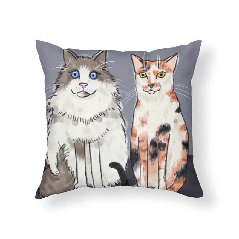 Gibbs and Callie Home Throw Pillow by Renee Leigh Stephenson Artist Shop