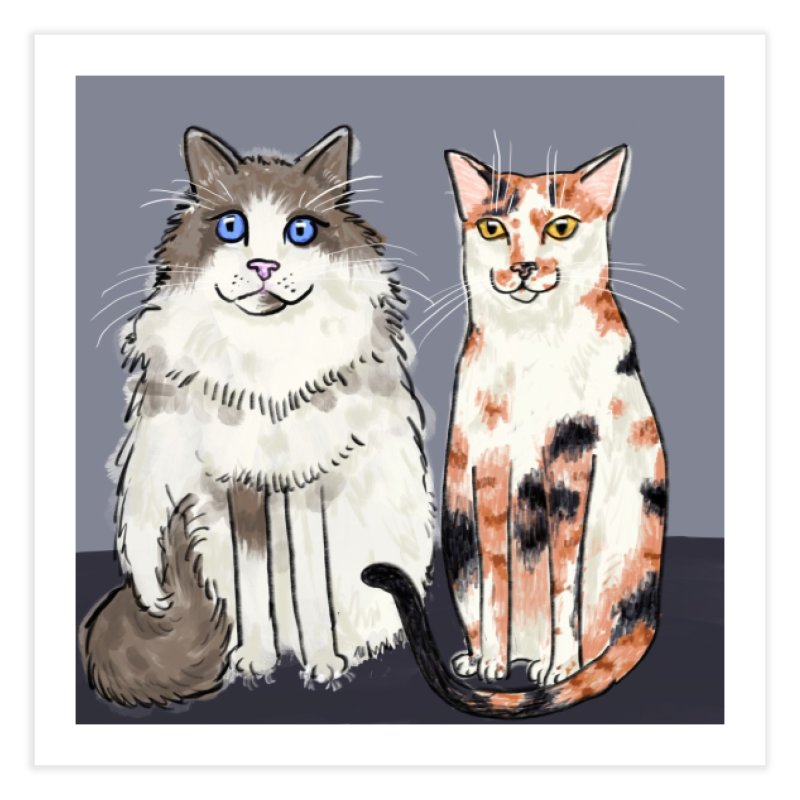 Gibbs and Callie Home Fine Art Print by Renee Leigh Stephenson Artist Shop