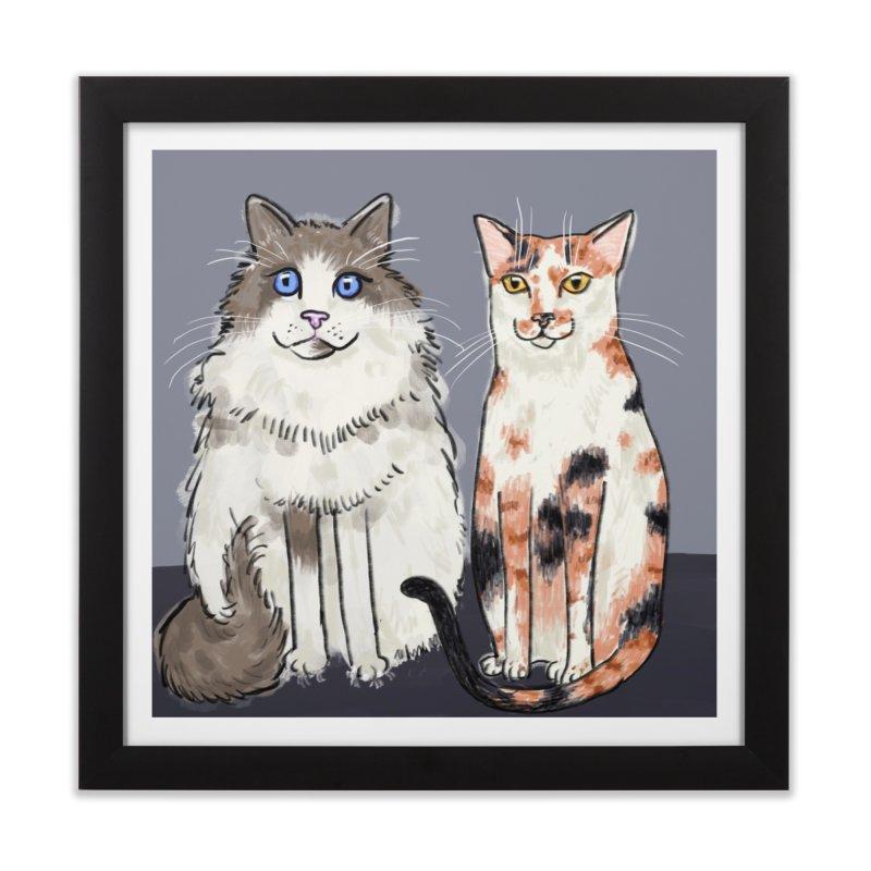 Gibbs and Callie Home Framed Fine Art Print by Renee Leigh Stephenson Artist Shop