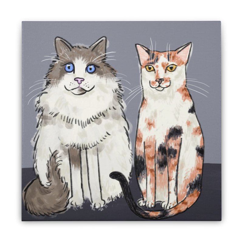 Gibbs and Callie in Stretched Canvas by Renee Leigh Stephenson Artist Shop
