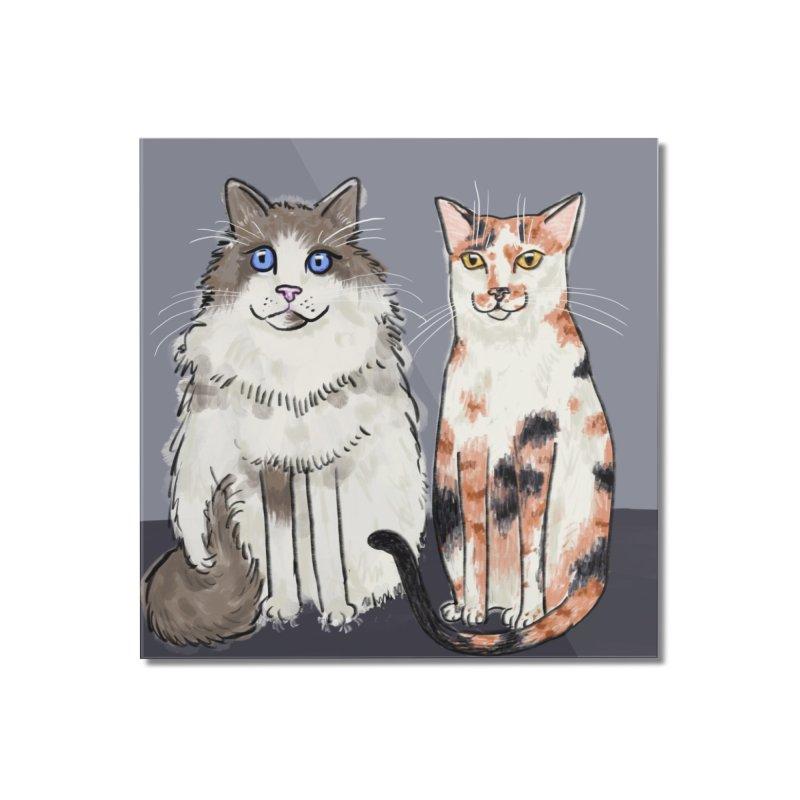 Gibbs and Callie Home Mounted Acrylic Print by Renee Leigh Stephenson Artist Shop