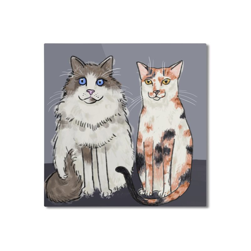 Gibbs and Callie Home Mounted Aluminum Print by Renee Leigh Stephenson Artist Shop