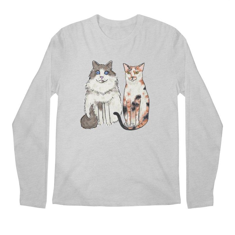 Gibbs and Callie Men's Longsleeve T-Shirt by Renee Leigh Stephenson Artist Shop