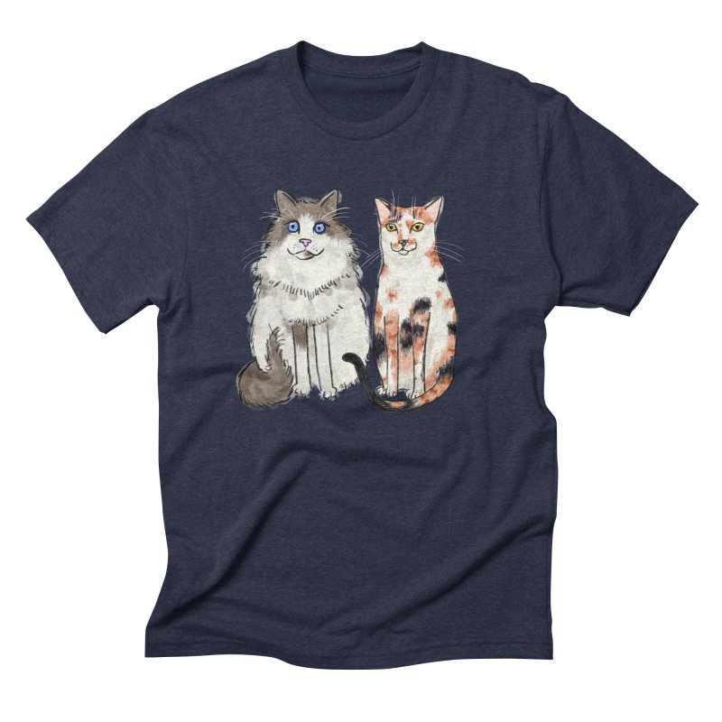 Gibbs and Callie Men's Triblend T-shirt by Renee Leigh Stephenson Artist Shop