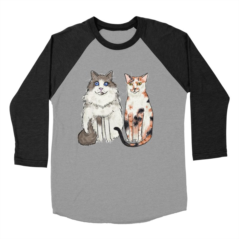Gibbs and Callie Men's Baseball Triblend T-Shirt by Renee Leigh Stephenson Artist Shop