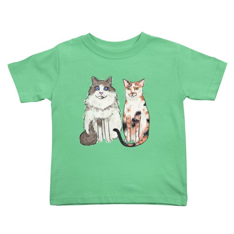 Gibbs and Callie Kids Toddler T-Shirt by Renee Leigh Stephenson Artist Shop