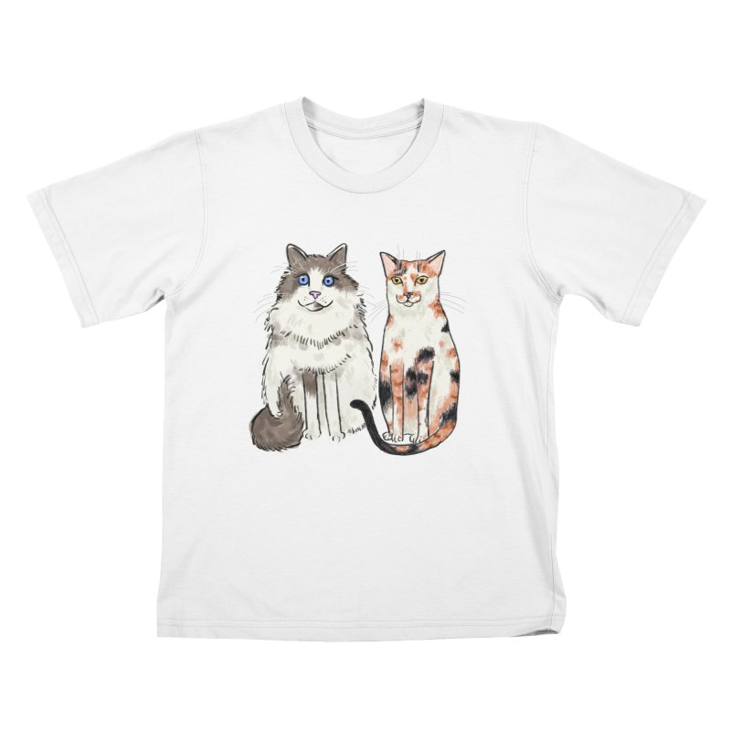 Gibbs and Callie Kids T-shirt by Renee Leigh Stephenson Artist Shop