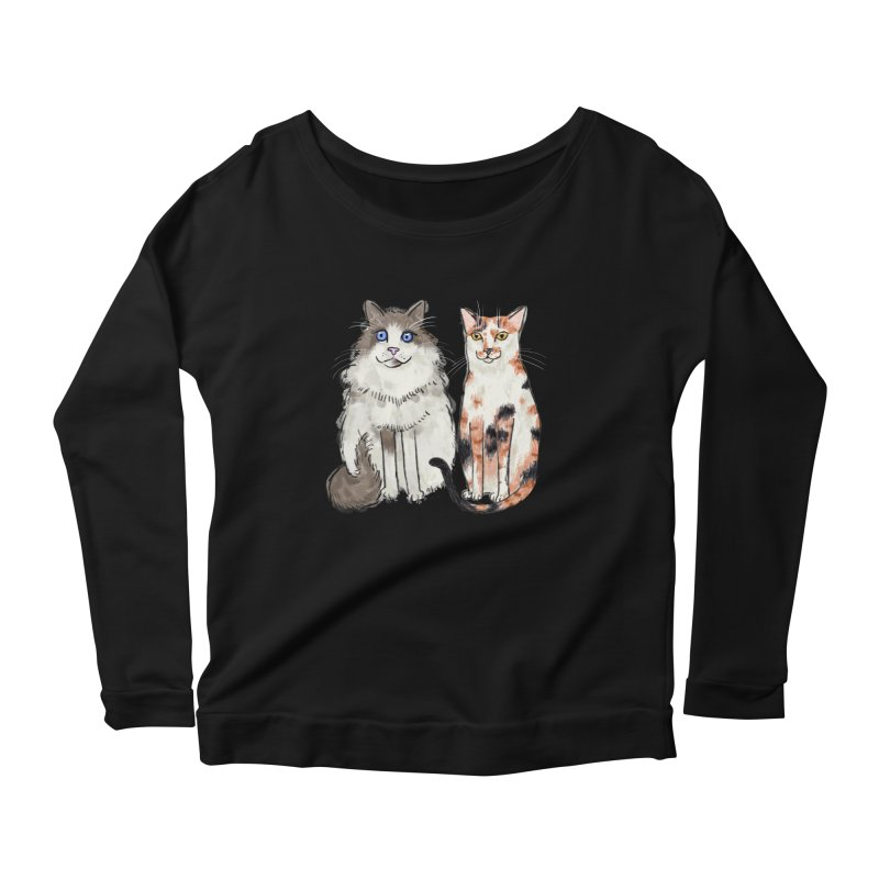 Gibbs and Callie Women's Longsleeve Scoopneck  by Renee Leigh Stephenson Artist Shop