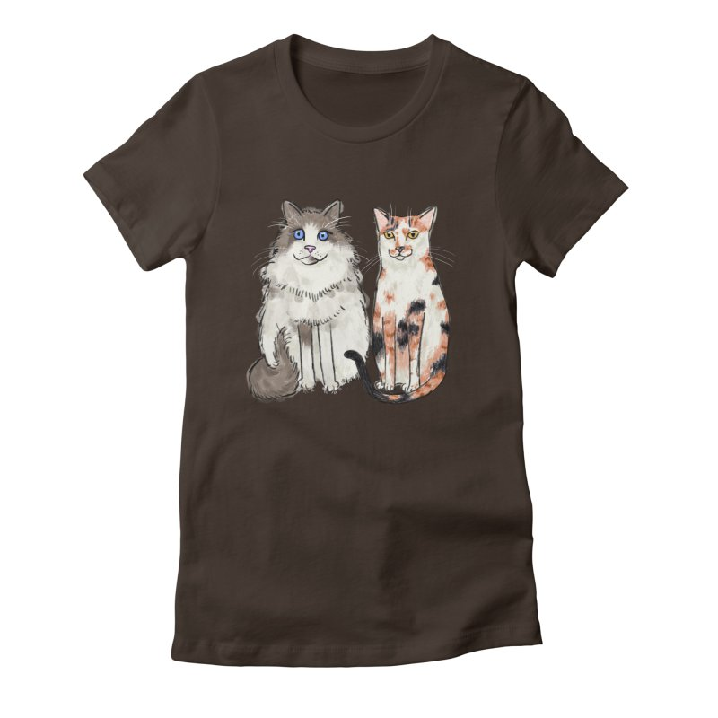 Gibbs and Callie Women's Fitted T-Shirt by Renee Leigh Stephenson Artist Shop