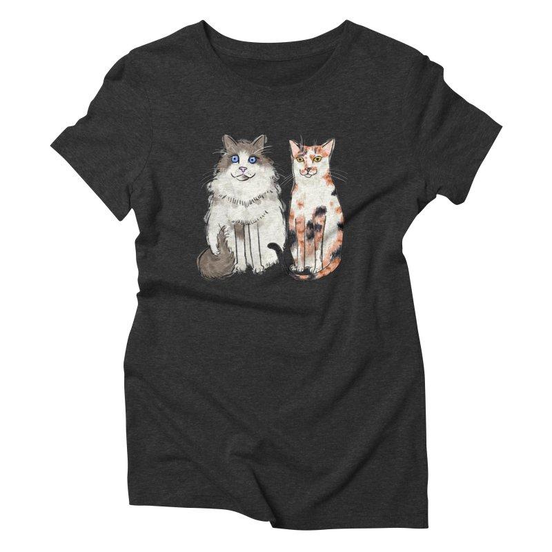 Gibbs and Callie Women's Triblend T-shirt by Renee Leigh Stephenson Artist Shop