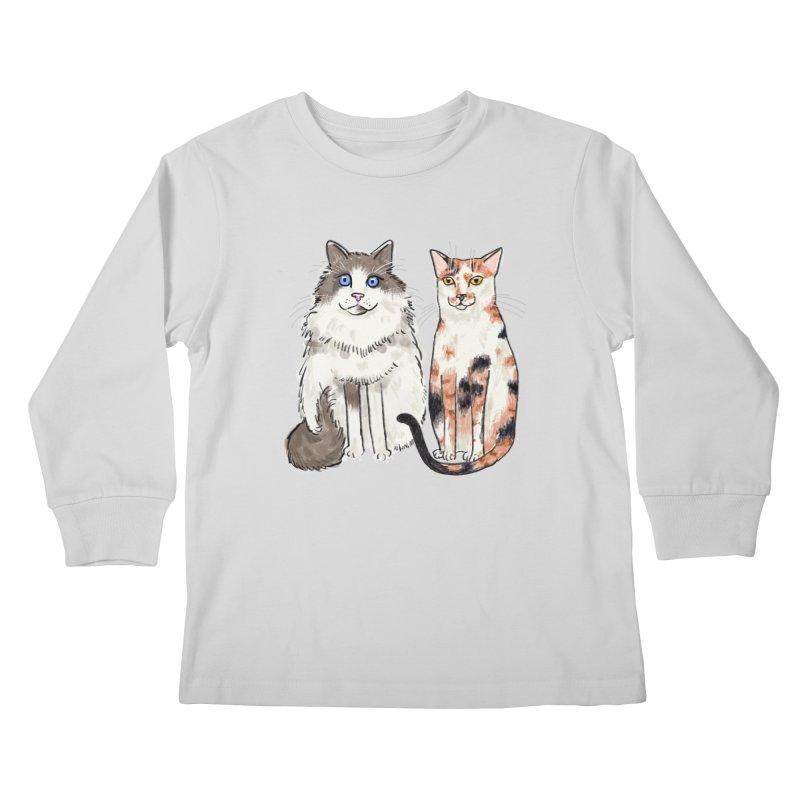 Gibbs and Callie Kids Longsleeve T-Shirt by Renee Leigh Stephenson Artist Shop