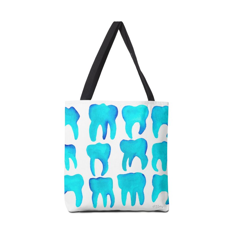 Turquoise Molars - Horizontal Accessories Bag by Renee Leigh Stephenson Artist Shop