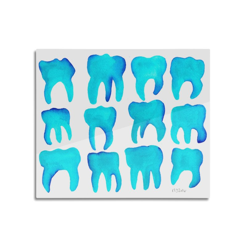Turquoise Molars - Horizontal Home Mounted Aluminum Print by Renee Leigh Stephenson Artist Shop