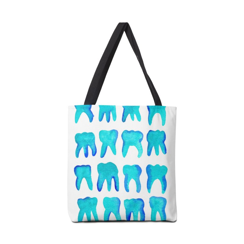 Turquoise Molars - Vertical Accessories Bag by Renee Leigh Stephenson Artist Shop