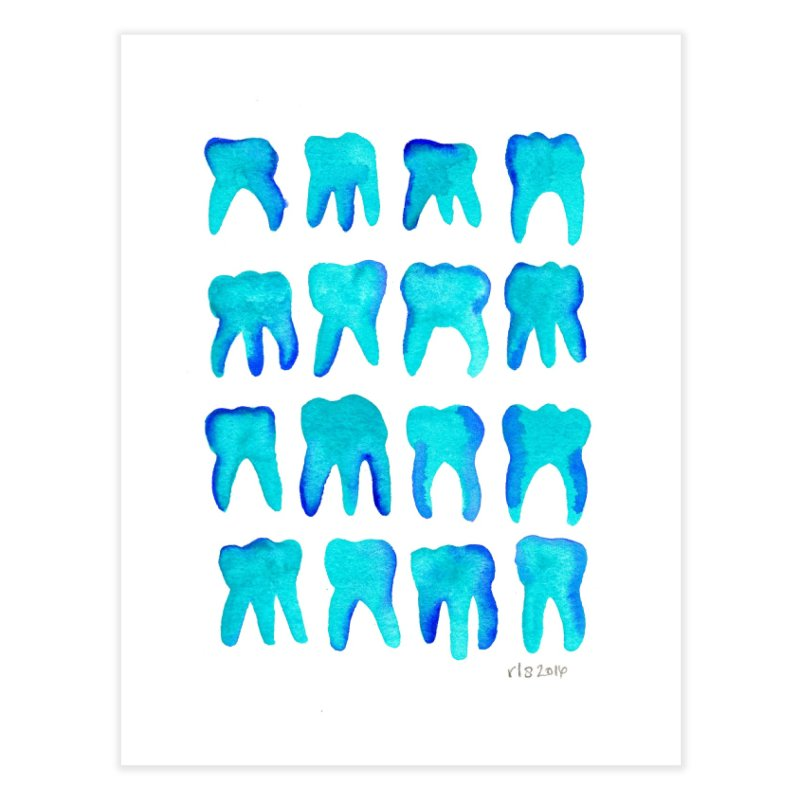 Turquoise Molars - Vertical Home Fine Art Print by Renee Leigh Stephenson Artist Shop