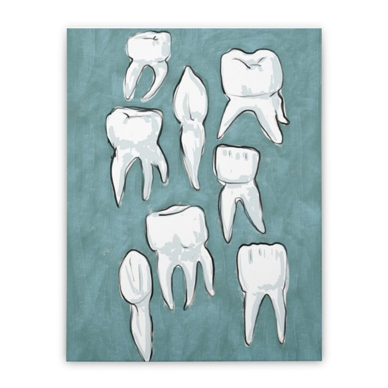 Human Teeth Home Stretched Canvas by Renee Leigh Stephenson Artist Shop
