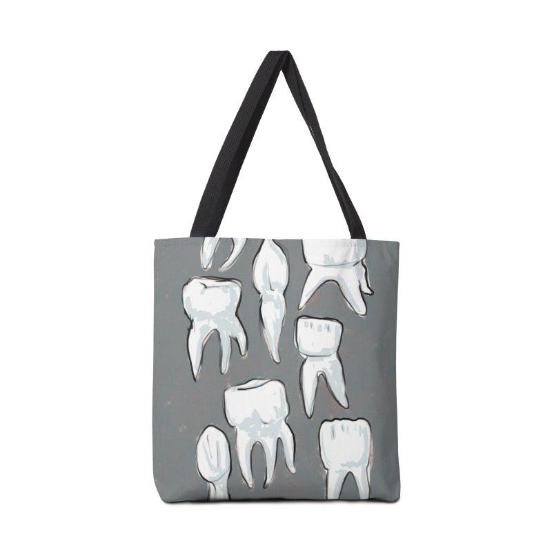 Human Teeth - Dark Accessories Bag by Renee Leigh Stephenson Artist Shop