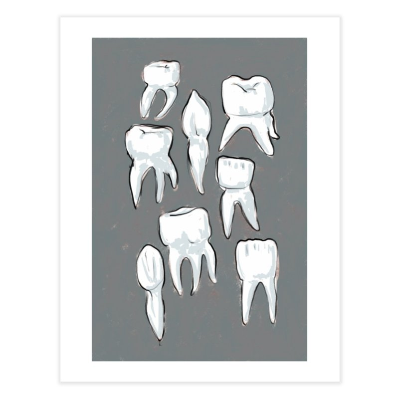 Human Teeth - Dark Home Fine Art Print by Renee Leigh Stephenson Artist Shop