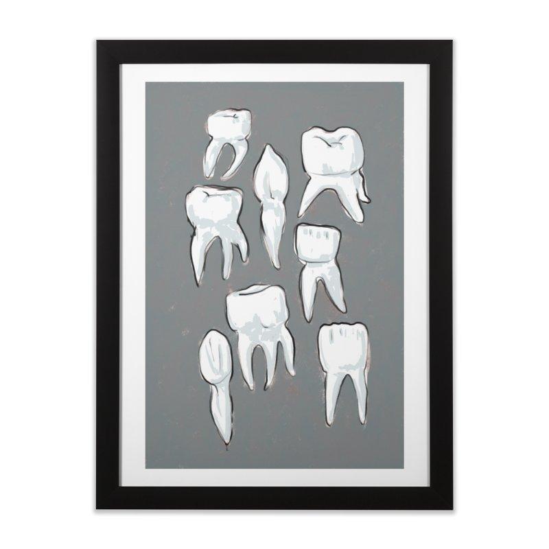 Human Teeth - Dark Home Framed Fine Art Print by Renee Leigh Stephenson Artist Shop