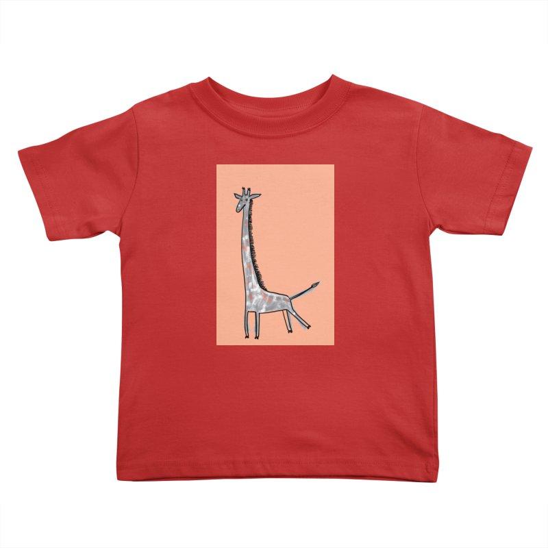 Giraffe Kick Kids Toddler T-Shirt by Renee Leigh Stephenson Artist Shop