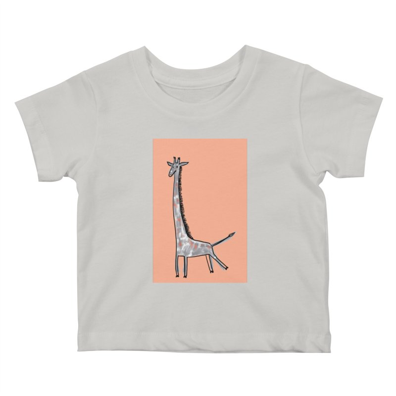 Giraffe Kick Kids Baby T-Shirt by Renee Leigh Stephenson Artist Shop