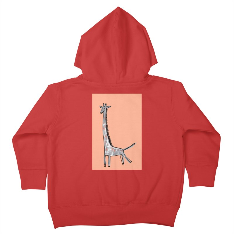 Giraffe Kick Kids Toddler Zip-Up Hoody by Renee Leigh Stephenson Artist Shop
