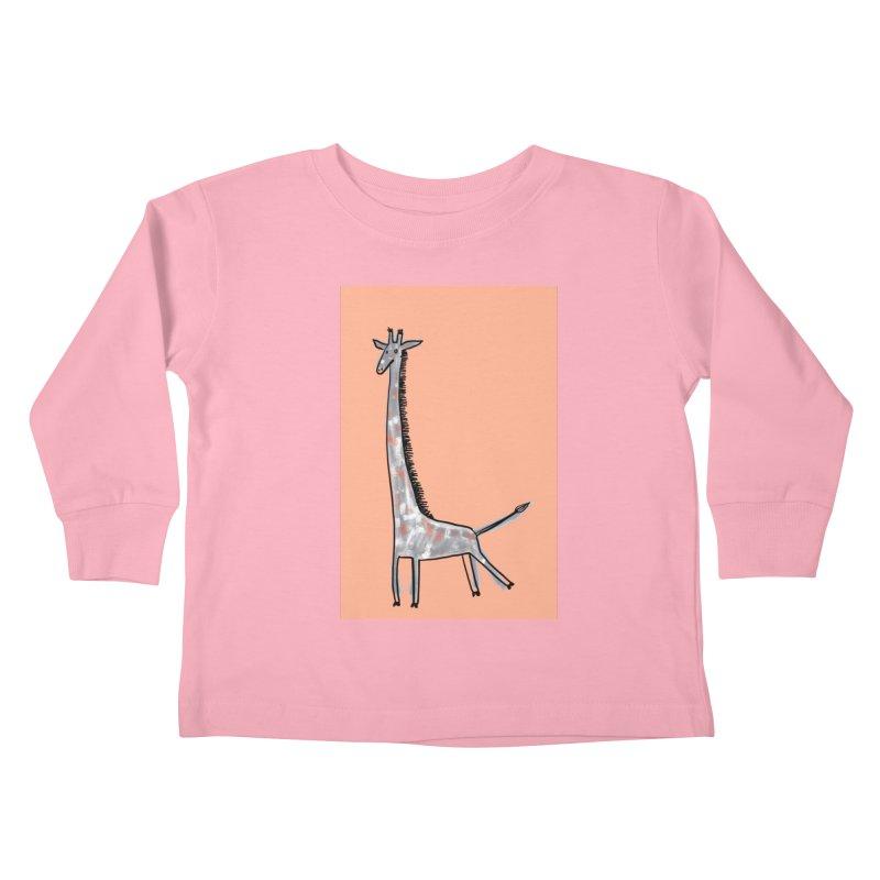 Giraffe Kick Kids Toddler Longsleeve T-Shirt by Renee Leigh Stephenson Artist Shop