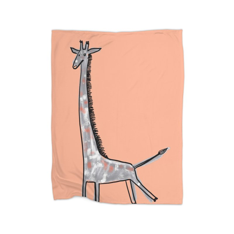 Giraffe Kick Home Blanket by Renee Leigh Stephenson Artist Shop