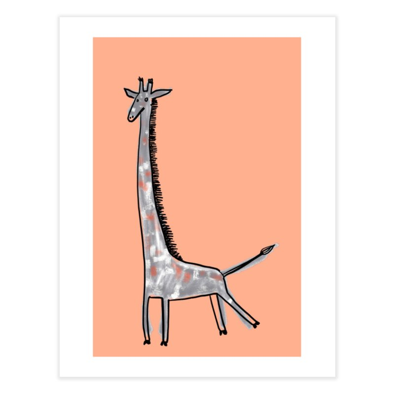 Giraffe Kick Home Fine Art Print by Renee Leigh Stephenson Artist Shop