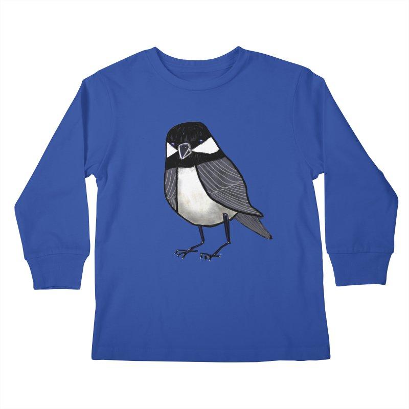 Backyard Buddy Kids Longsleeve T-Shirt by Renee Leigh Stephenson Artist Shop