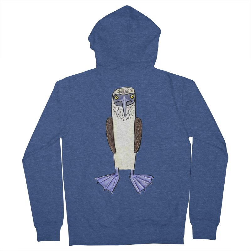 Blue Footed Booby Women's Zip-Up Hoody by Renee Leigh Stephenson Artist Shop