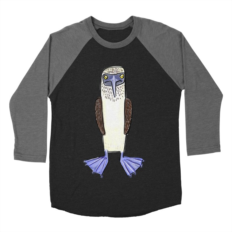 Blue Footed Booby Women's Baseball Triblend T-Shirt by Renee Leigh Stephenson Artist Shop