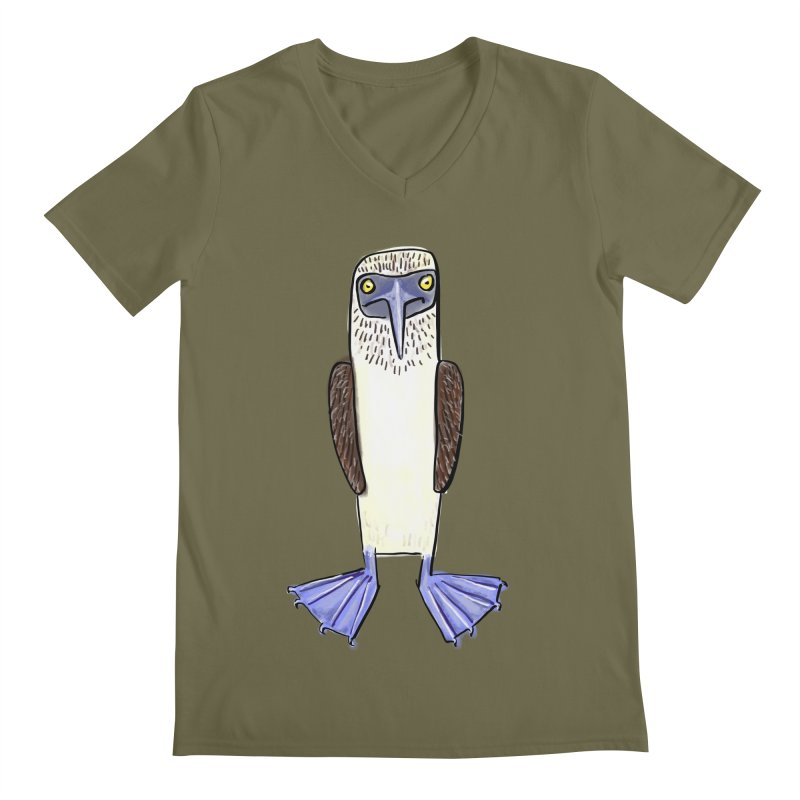 Blue Footed Booby Men's V-Neck by Renee Leigh Stephenson Artist Shop