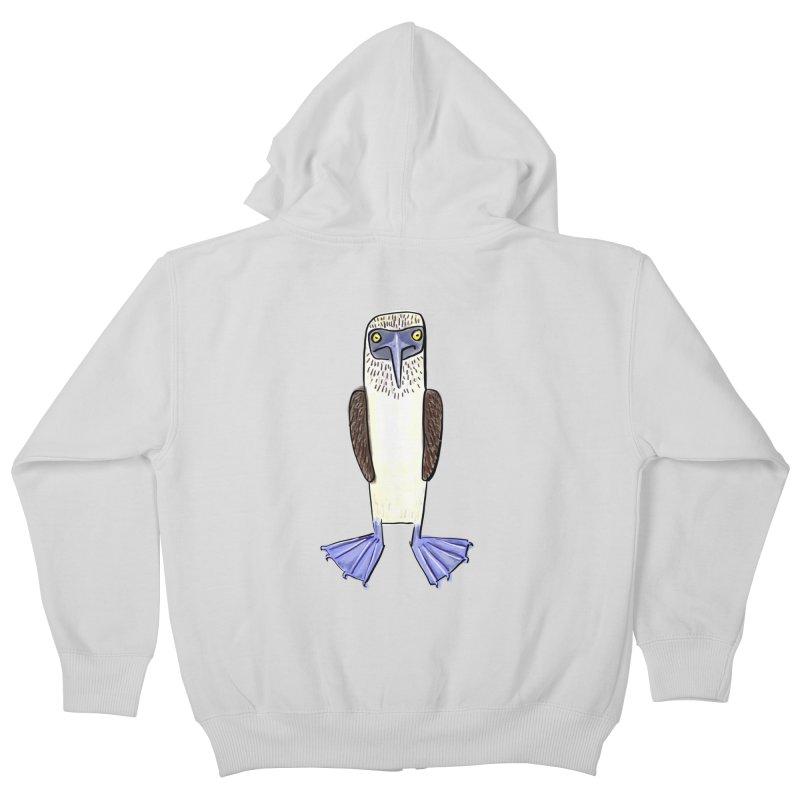 Blue Footed Booby Kids Zip-Up Hoody by Renee Leigh Stephenson Artist Shop