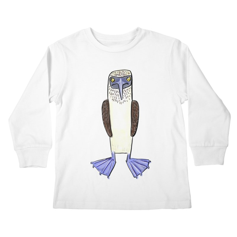 Blue Footed Booby Kids Longsleeve T-Shirt by Renee Leigh Stephenson Artist Shop