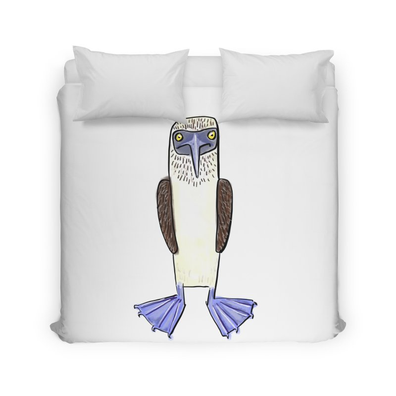 Blue Footed Booby Home Duvet by Renee Leigh Stephenson Artist Shop