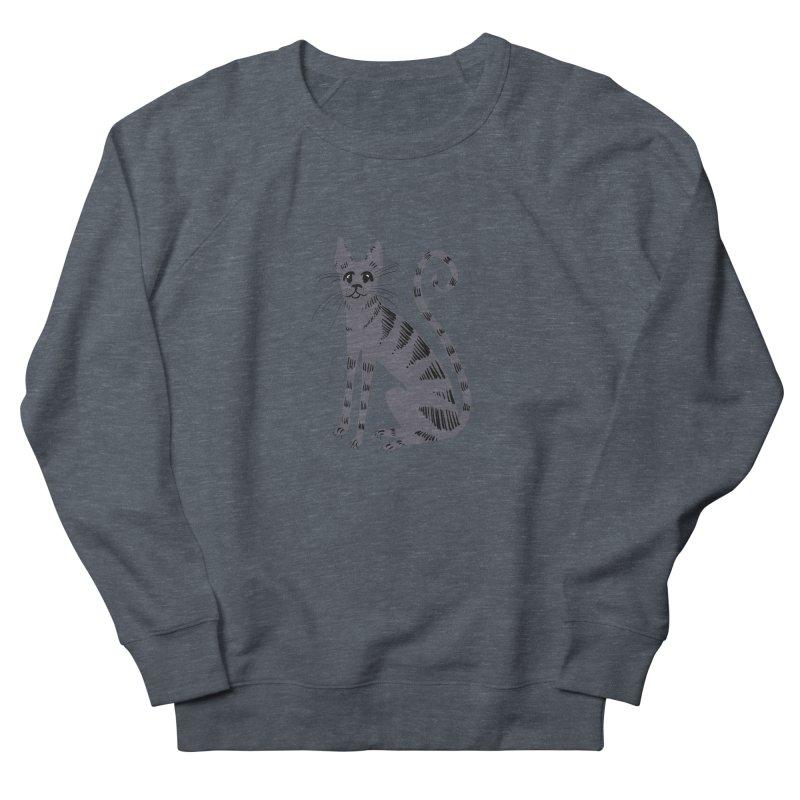 Grey Tabby Cat Men's Sweatshirt by Renee Leigh Stephenson Artist Shop