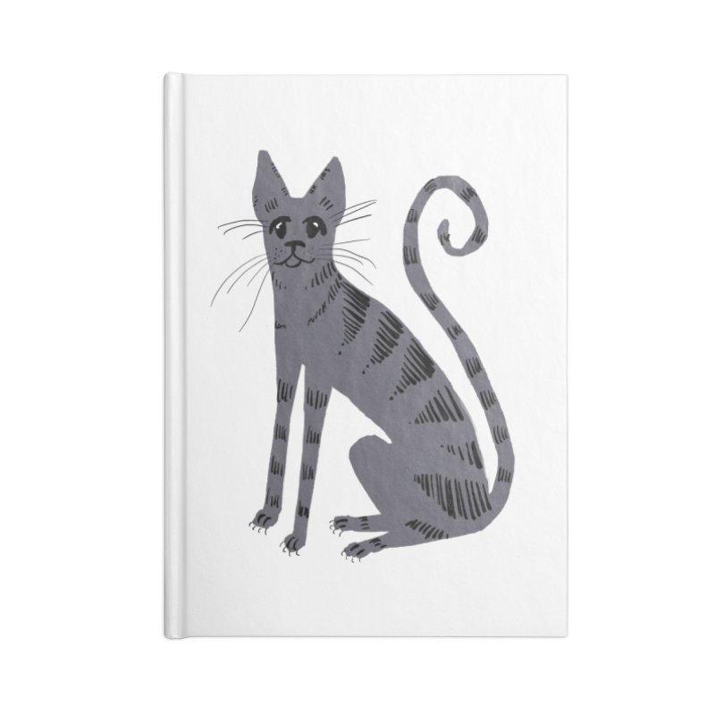 Grey Tabby Cat Accessories Notebook by Renee Leigh Stephenson Artist Shop