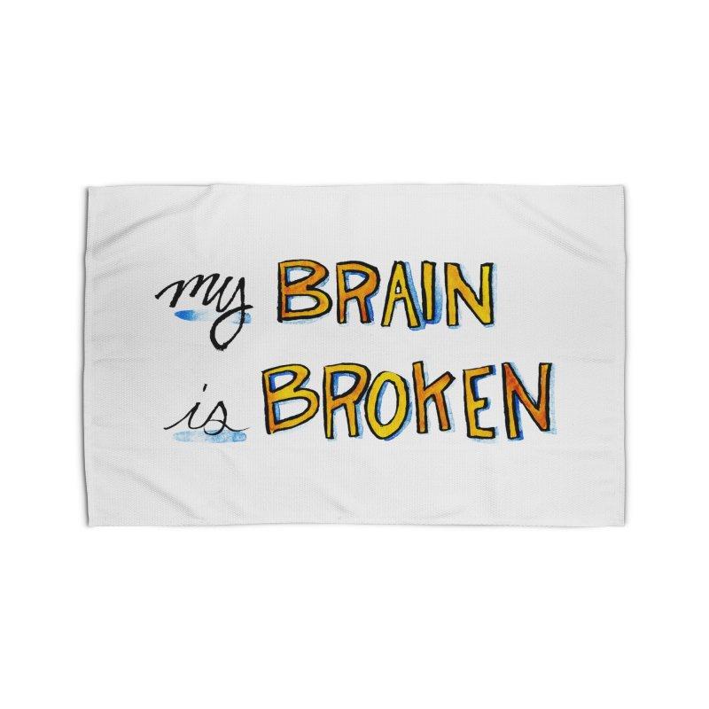 My Brain is Broken Home Rug by Renee Leigh Stephenson Artist Shop