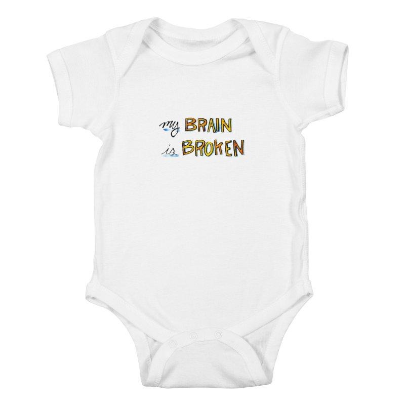 My Brain is Broken Kids Baby Bodysuit by Renee Leigh Stephenson Artist Shop