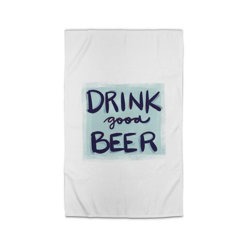 Drink Good Beer Home Rug by Renee Leigh Stephenson Artist Shop