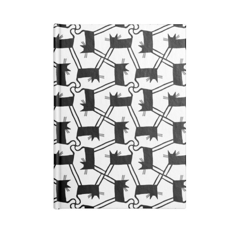 Black Cat Pattern Accessories Notebook by Renee Leigh Stephenson Artist Shop